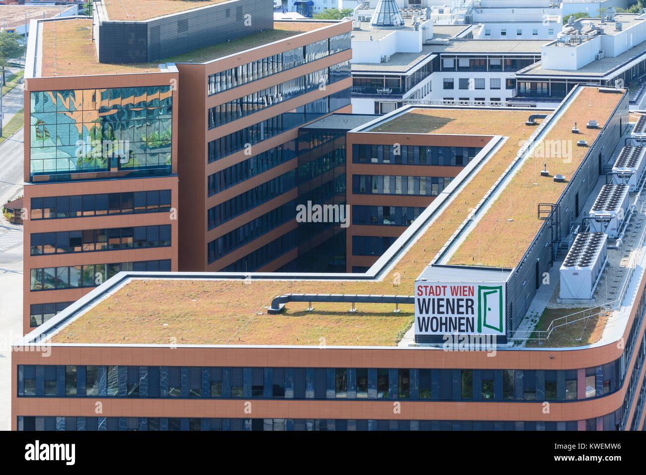 Wien, Vienna: headquarters of 'Wiener Wohnen' (Vienna Housing), 11. Simmering, Wien, Austria - Stock Image