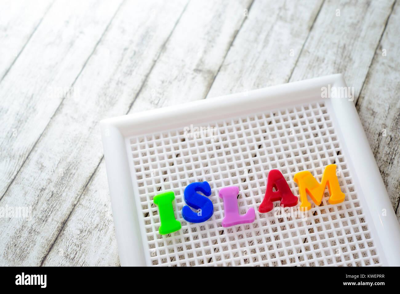 Stroke Islam, Schriftzug Islam - Stock Image
