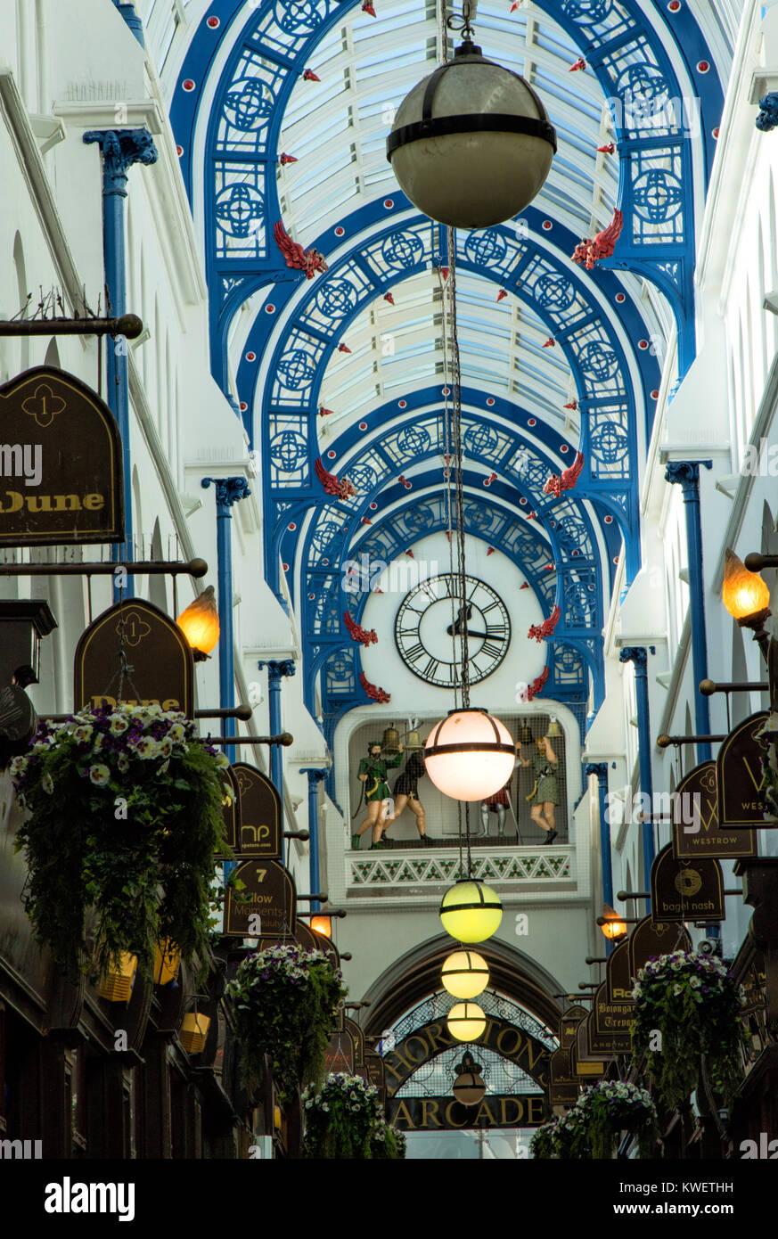 Thornton's Arcade,Briggate,Leeds,West Yorkshire,England,UK. - Stock Image