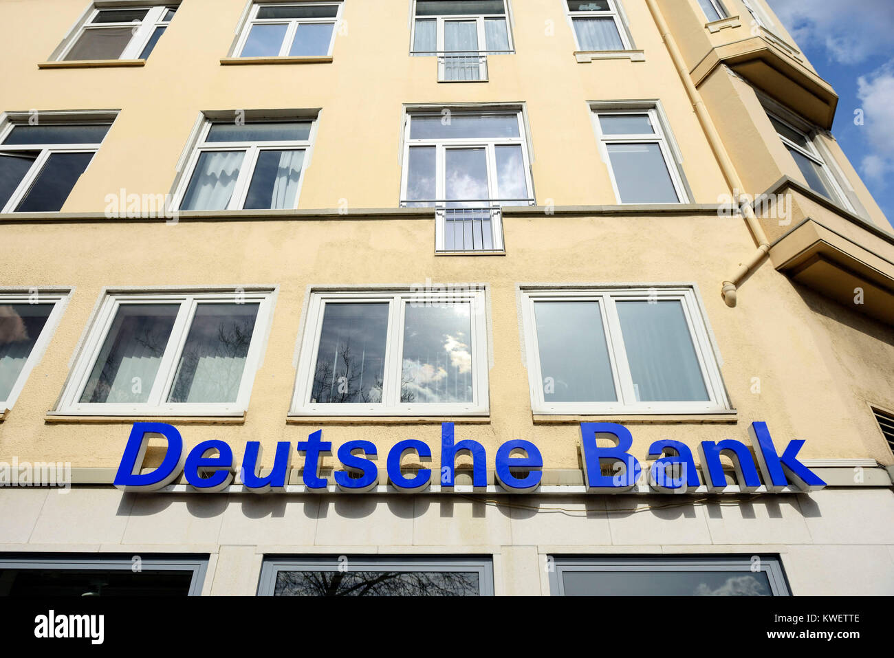 The German bank, Deutsche Bank - Stock Image