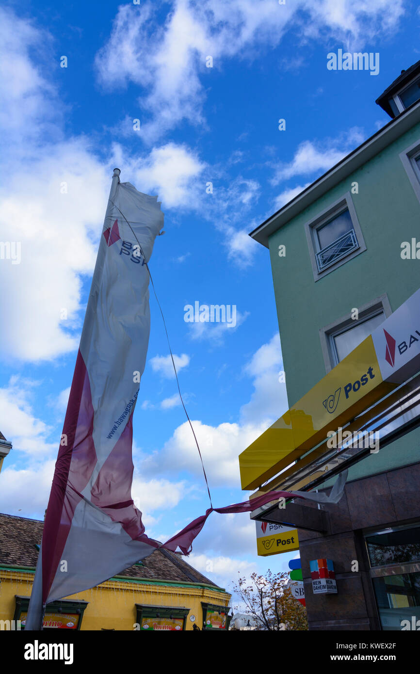 Baden Torn Flag At Bank Bawag Psk And Post Wienerwald Vienna