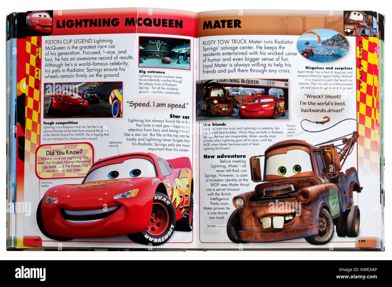 Pixar character Lightning McQueen and Tow Mater from the