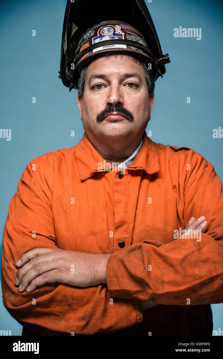 Randy Bryce, democratic candidate for Wisconsin's 1st Congressional District. He is an iron worker, union member, Stock Photo