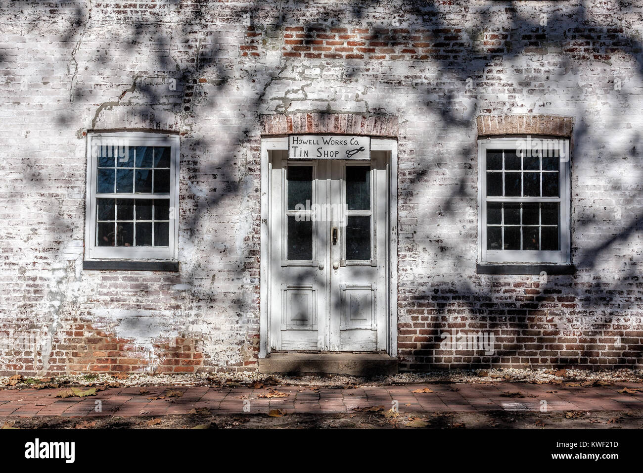 The Tin Shop in Historic Allaire Village in New Jersey, USA. Allaire Village is a restored 19th Century Bog Iron - Stock Image
