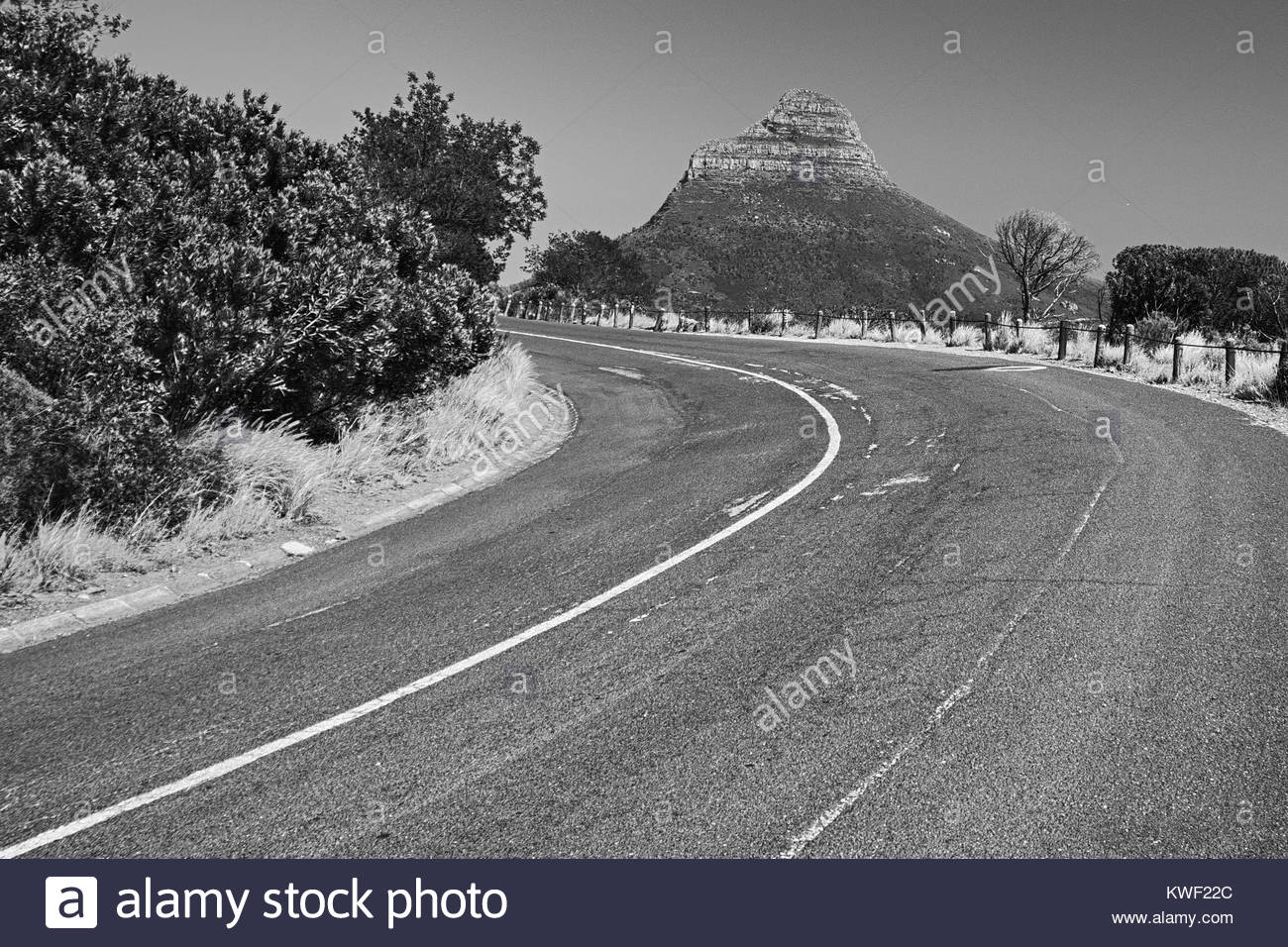 Road to Lion's Head, South Africa - Stock Image