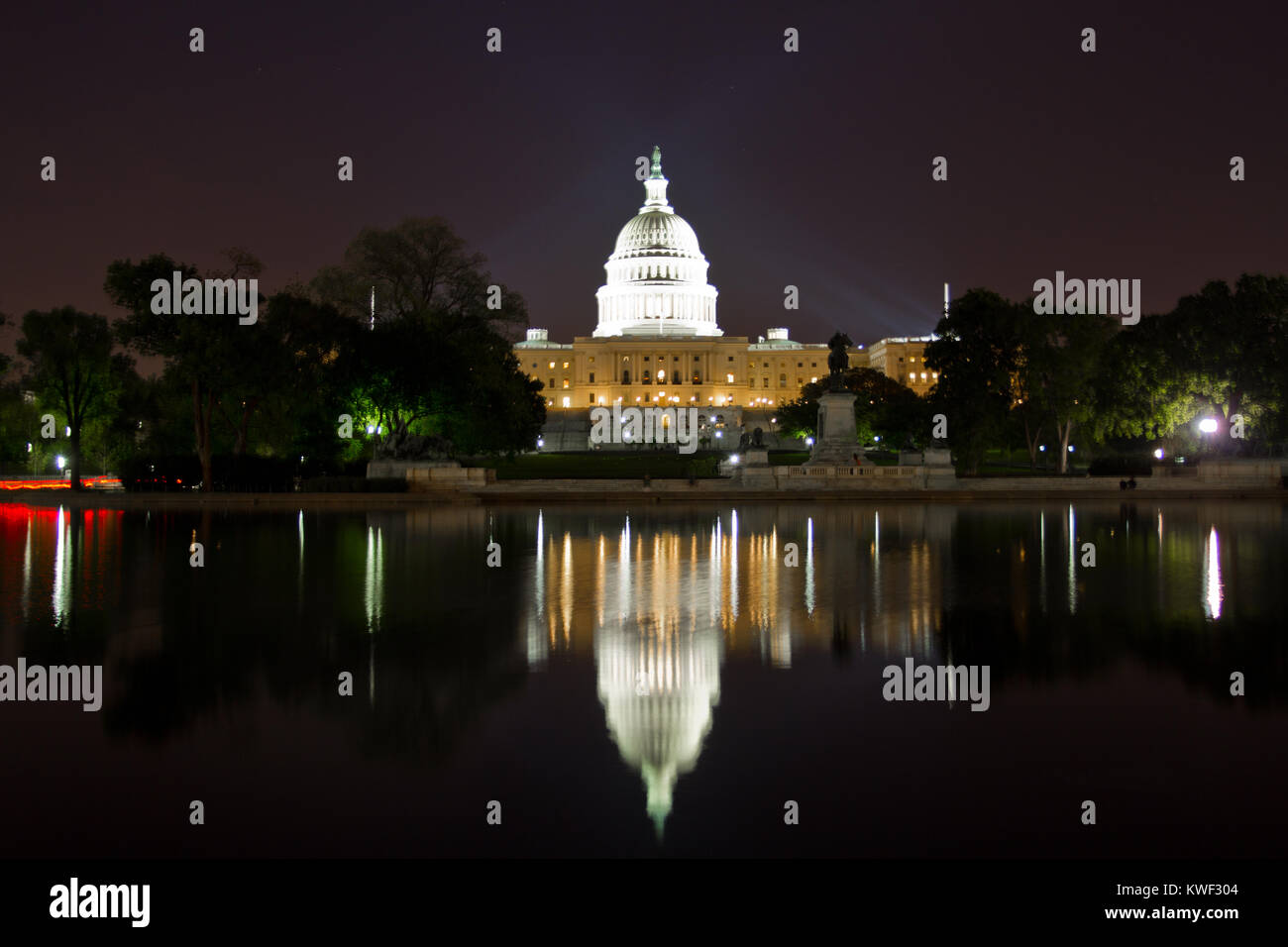 United States Capitol Building, Washington DC, is the home of the US Congress, and the seat of the legislative branch Stock Photo