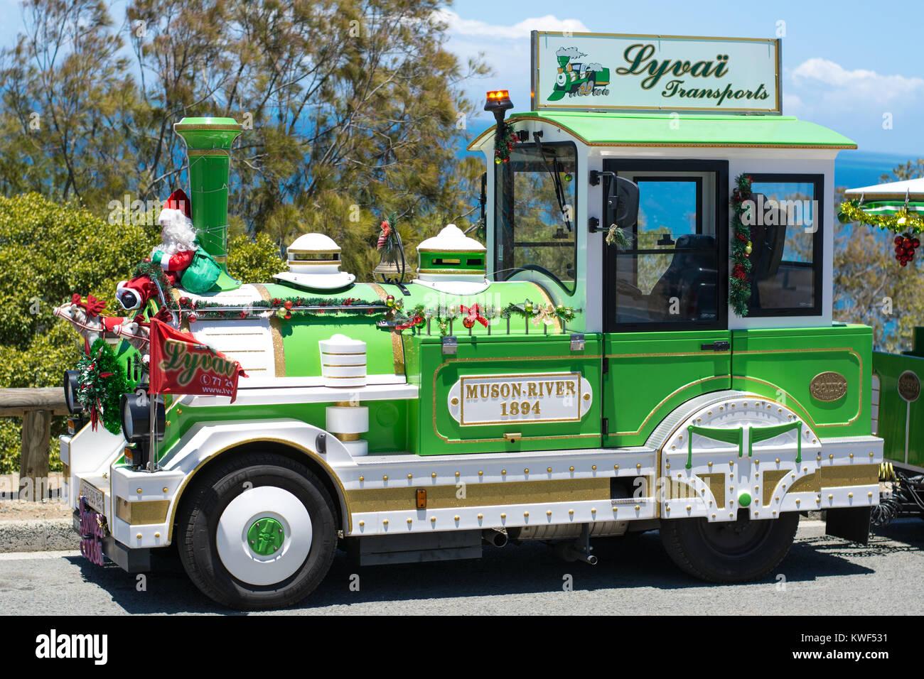 The Green Train touring Noumea - Stock Image