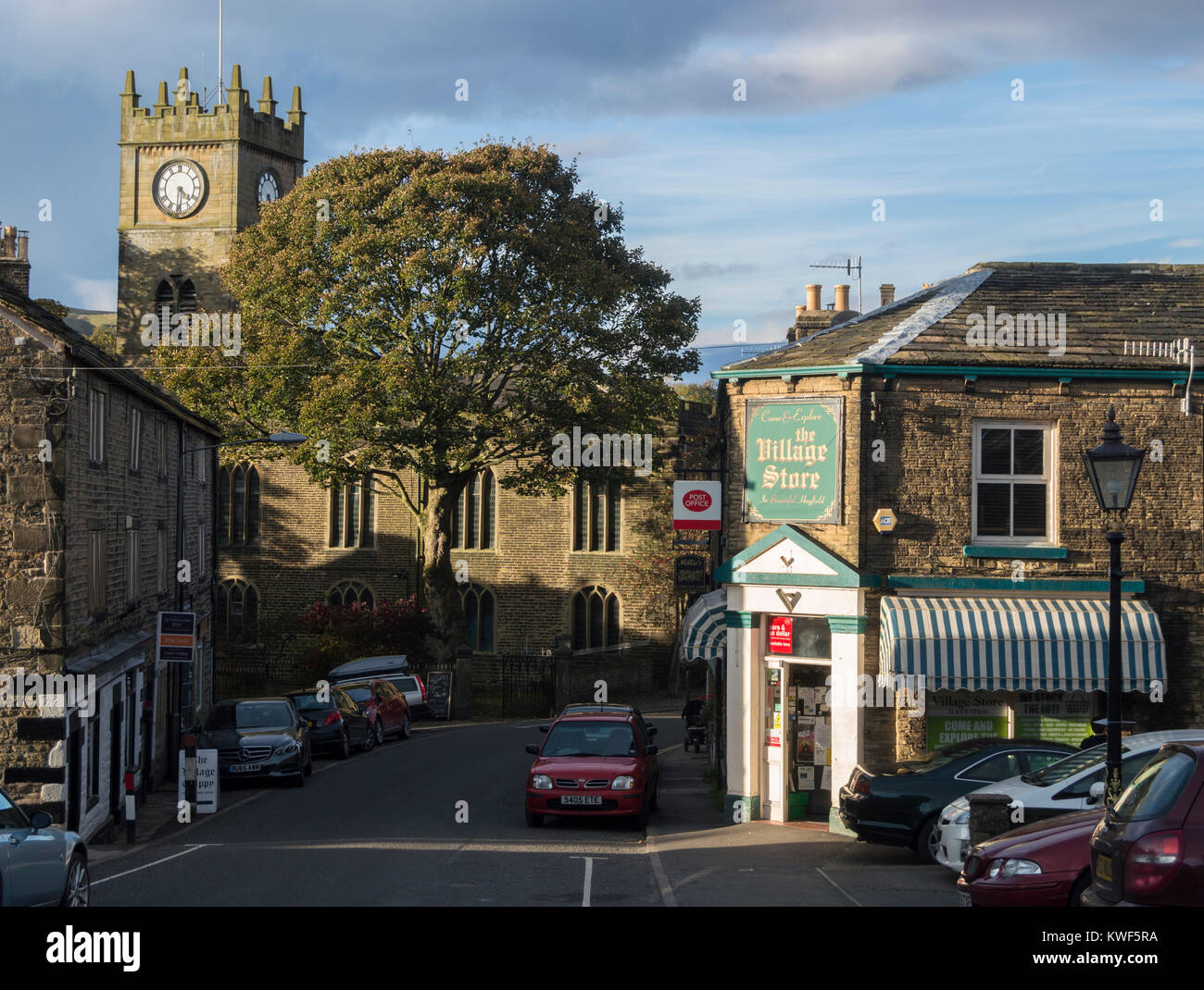 Hayfield, Peak District, Derbyshire, UK - Stock Image