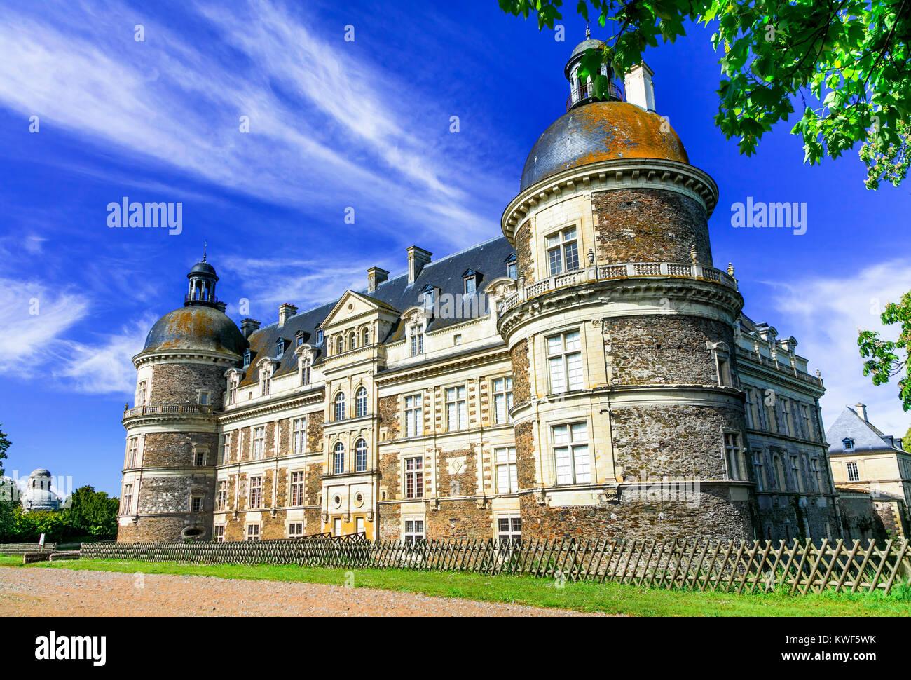 Elegant Chateau de Serrant,Loire valley,France. - Stock Image