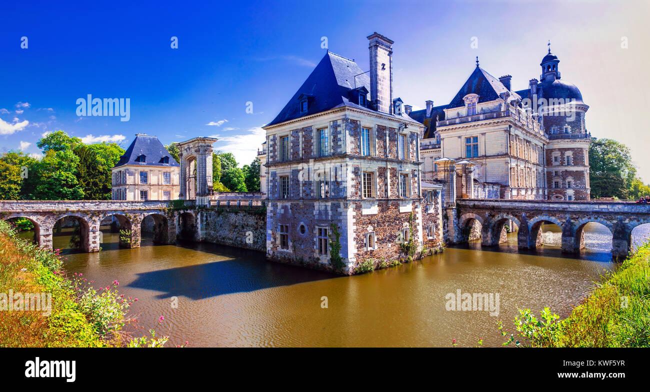 Beautiful Serrant  castle,Loire valley,France. - Stock Image