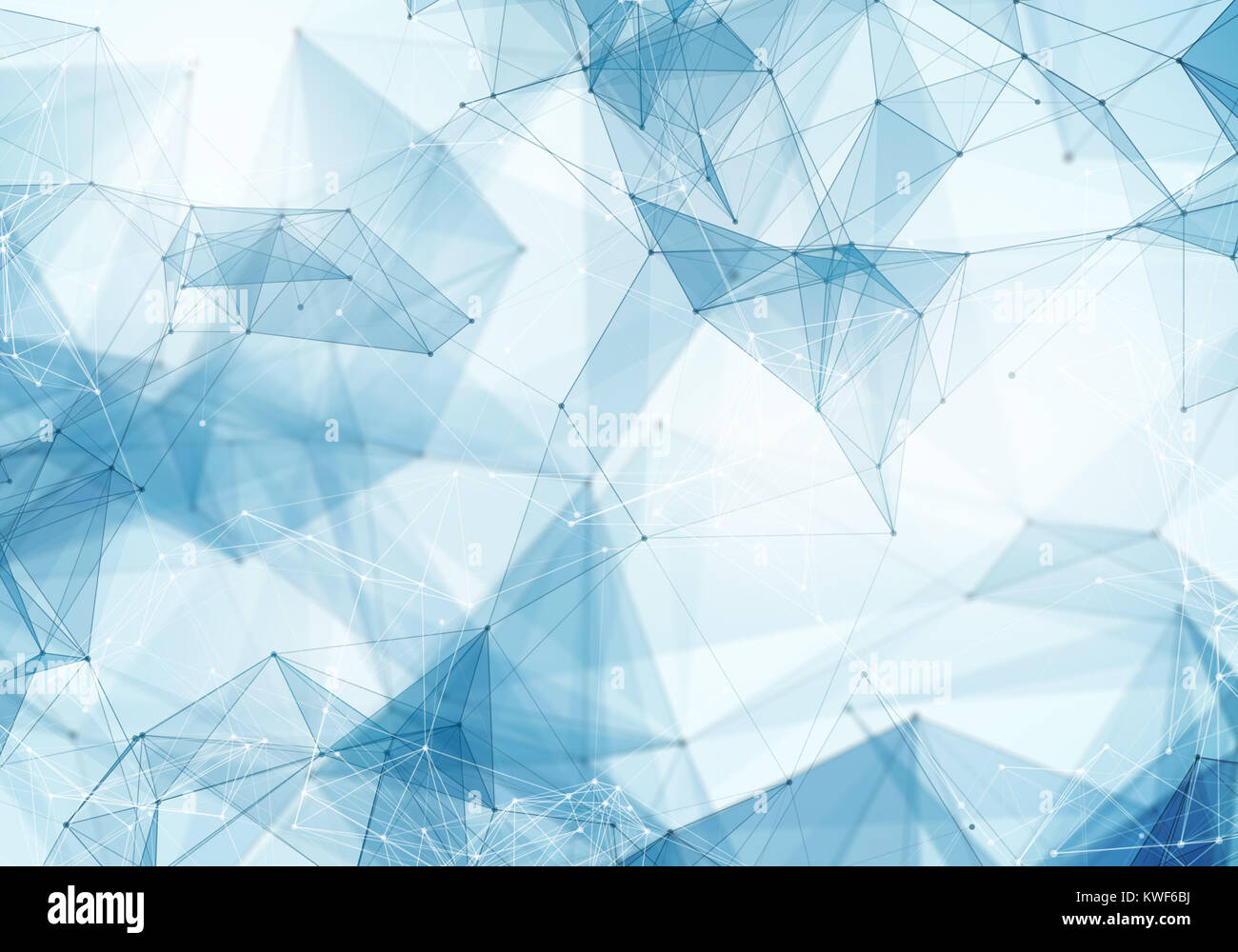 Abstract Polygonal Light Blue Space Low Poly Background