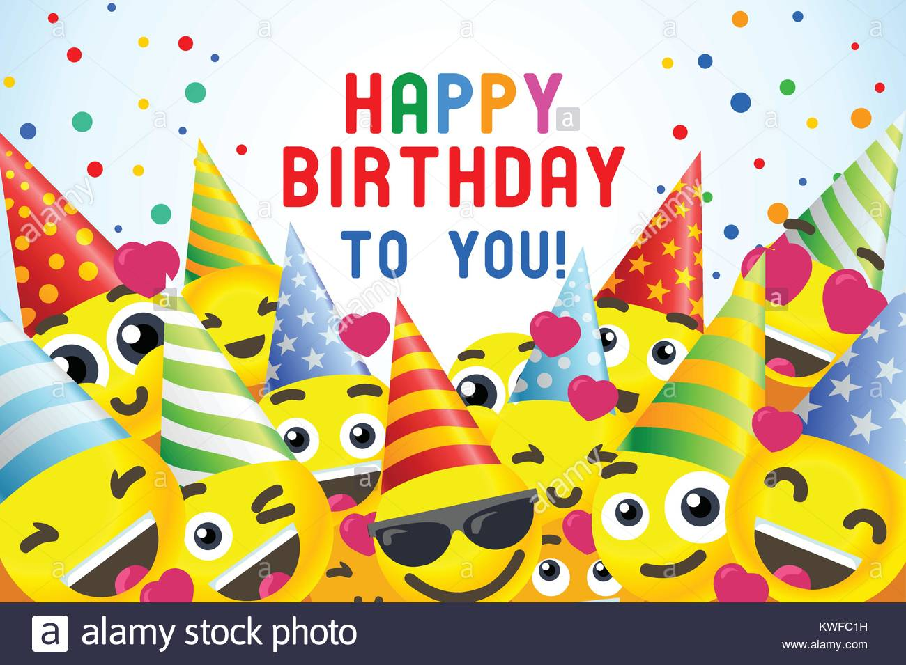 Happy Birthday Background 3D Banner For Kids Party Stock Vector Art