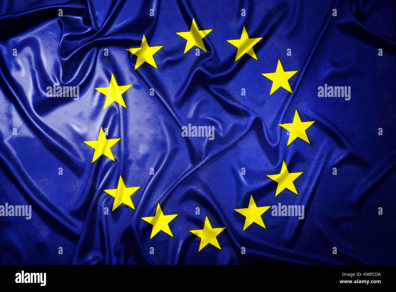 EU flag, EU-Fahne Stock Photo