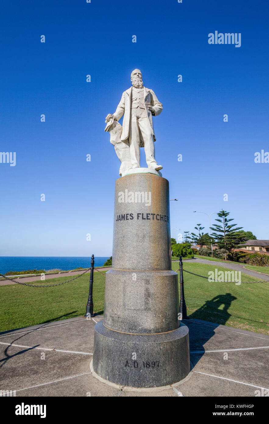 Australia, New South Wales, Newcastle, James Fletcher memorial, the statue commemorates James Fletcher (1834-1891), - Stock Image