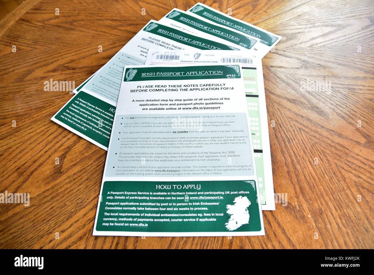Irish passport application stock photos irish passport application surge in irish passport applications uk 2nd january 2017 credit mark winter falaconquin