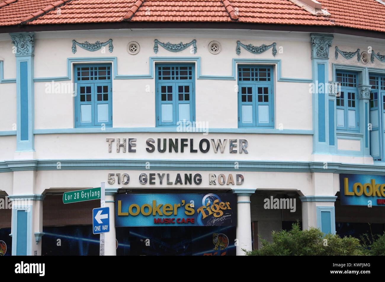 Geylang Road in Singapore Stock Photo