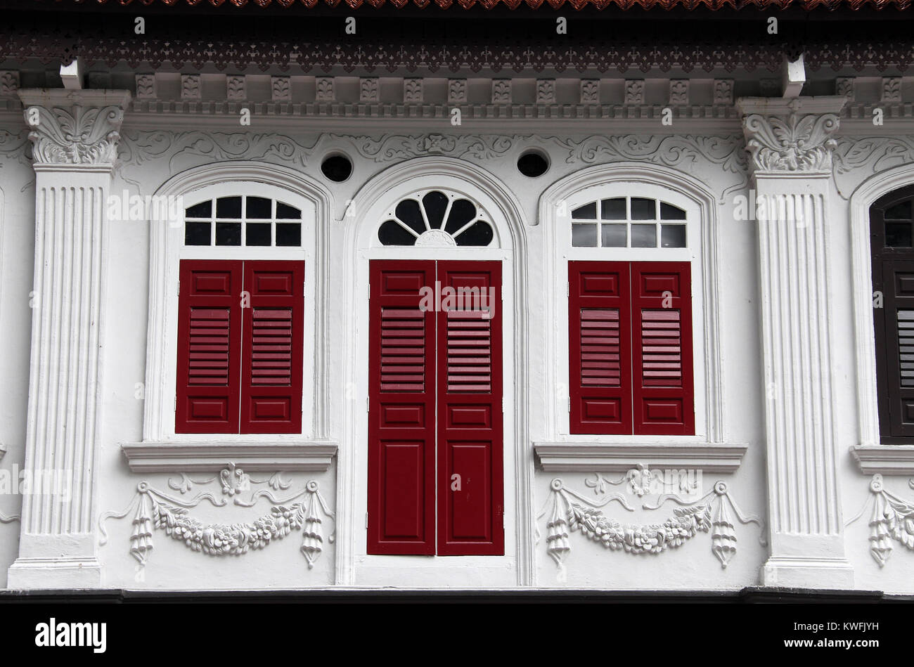 Shophouse in Singapore - Stock Image