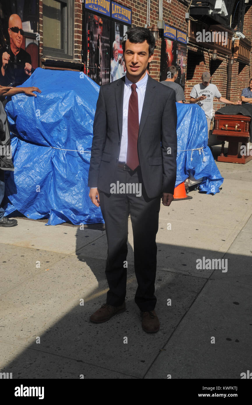NEW YORK, NY - JULY 16: Nathan Fielder at the 'Late Show