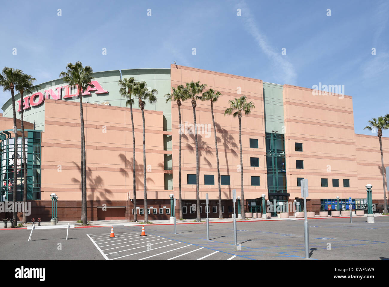 ANAHEIM, CA, MARCH 17, 2017: The Honda Center In Anaheim, California