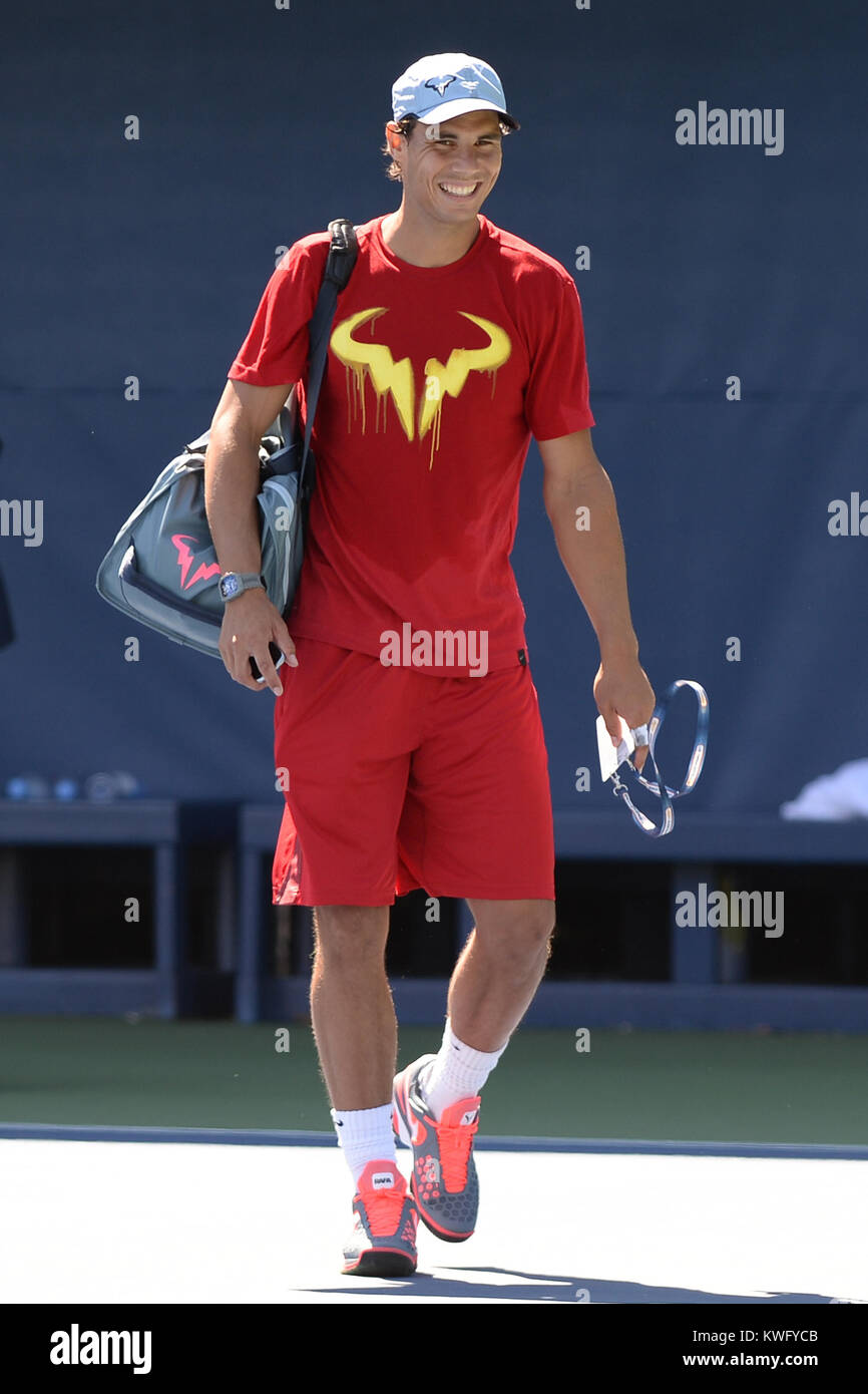 FLUSHING, NY - SEPTEMBER 06: Rafael Nadal day twelve of the 2013 US Open at USTA Billie Jean King National Tennis Stock Photo