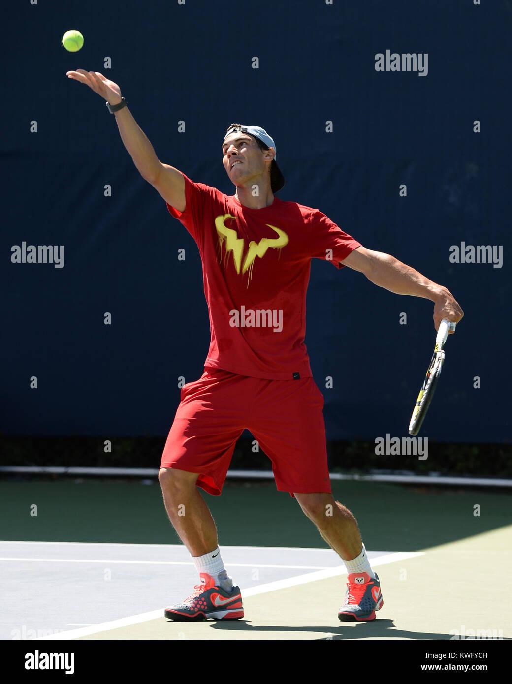 FLUSHING, NY - SEPTEMBER 06: Rafael Nadal day twelve of the 2013 US Open at USTA Billie Jean King National Tennis Stock Photo