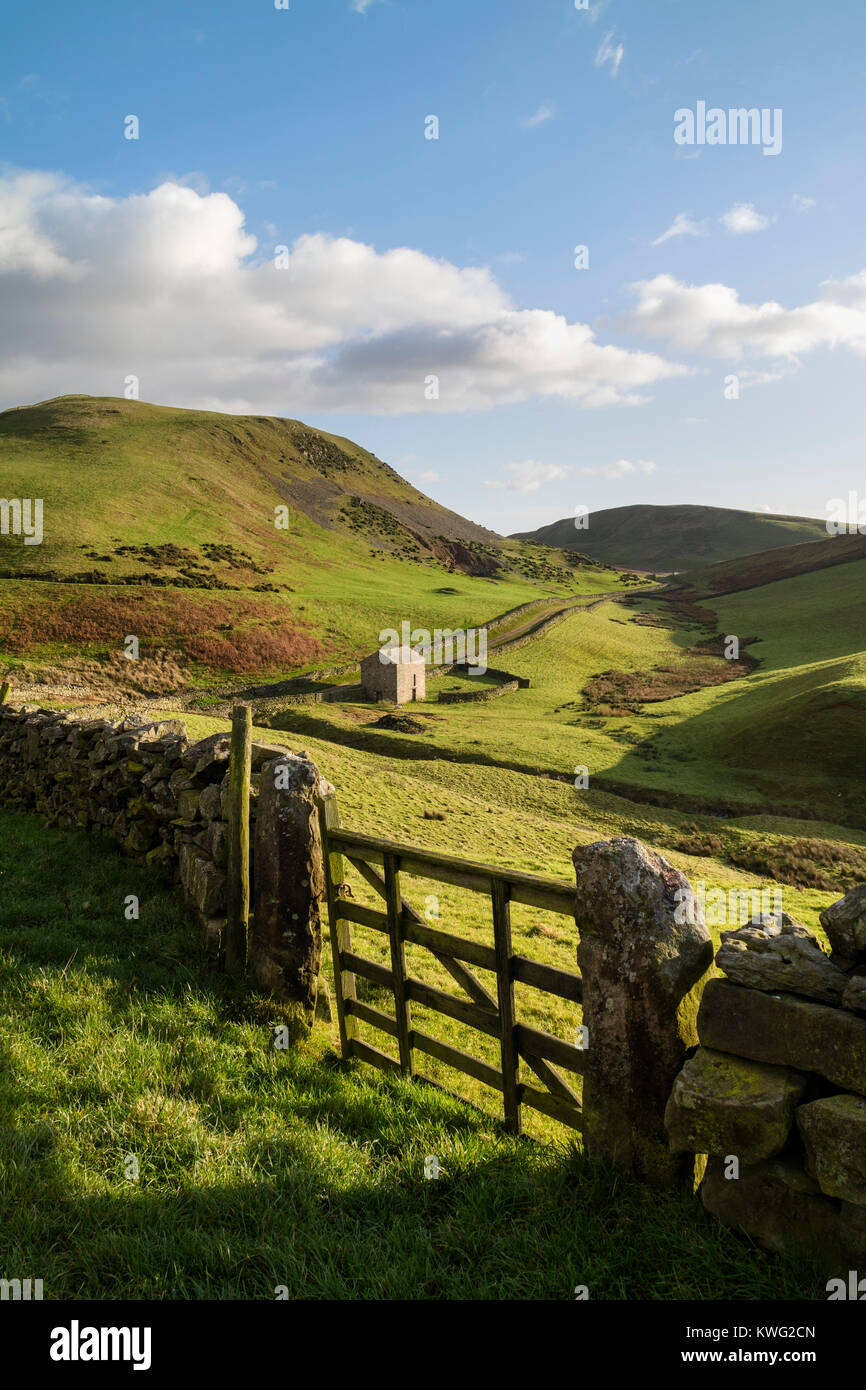 Harthwaite Near Dufton Viewed From the Pennine Way Footpath Leading up to High Cup Nick, Eden Valley, Cumbria, UK. - Stock Image