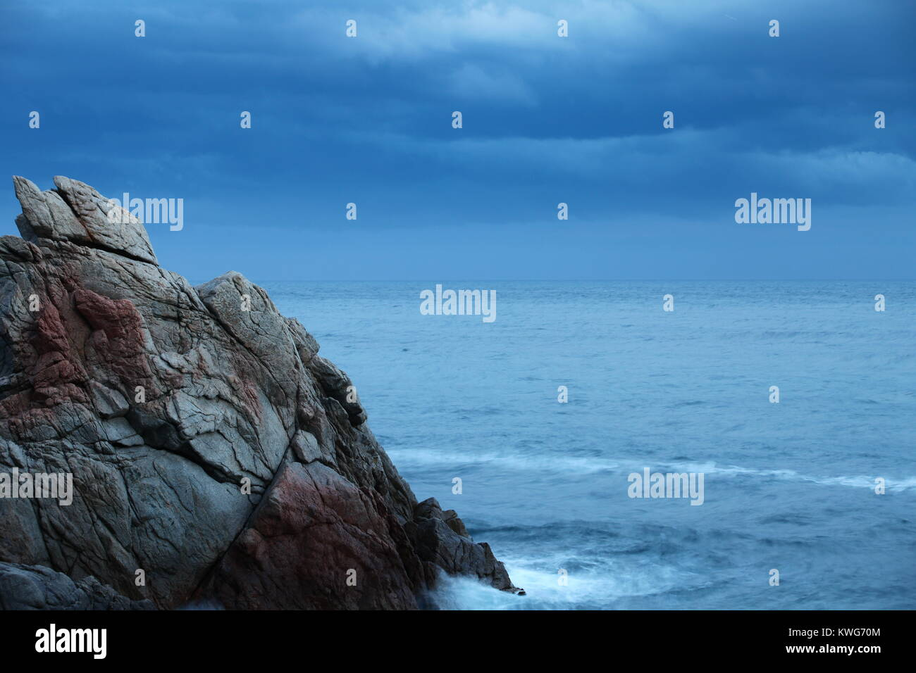 Scaur Dramatic seascape in the evening - Stock Image