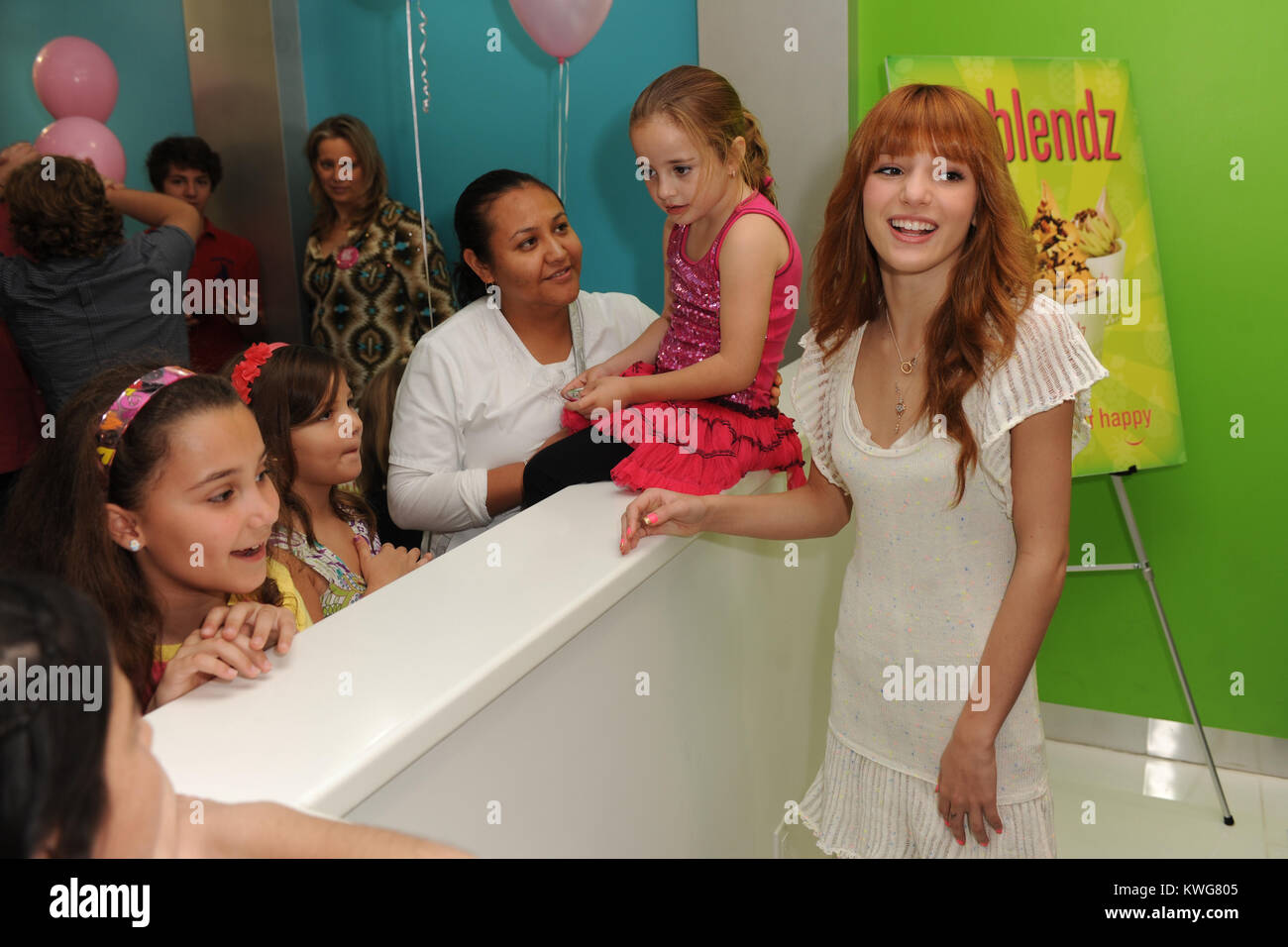 Disney Channel Star Bella Thorne Meets And Greets Fans Stock Photos