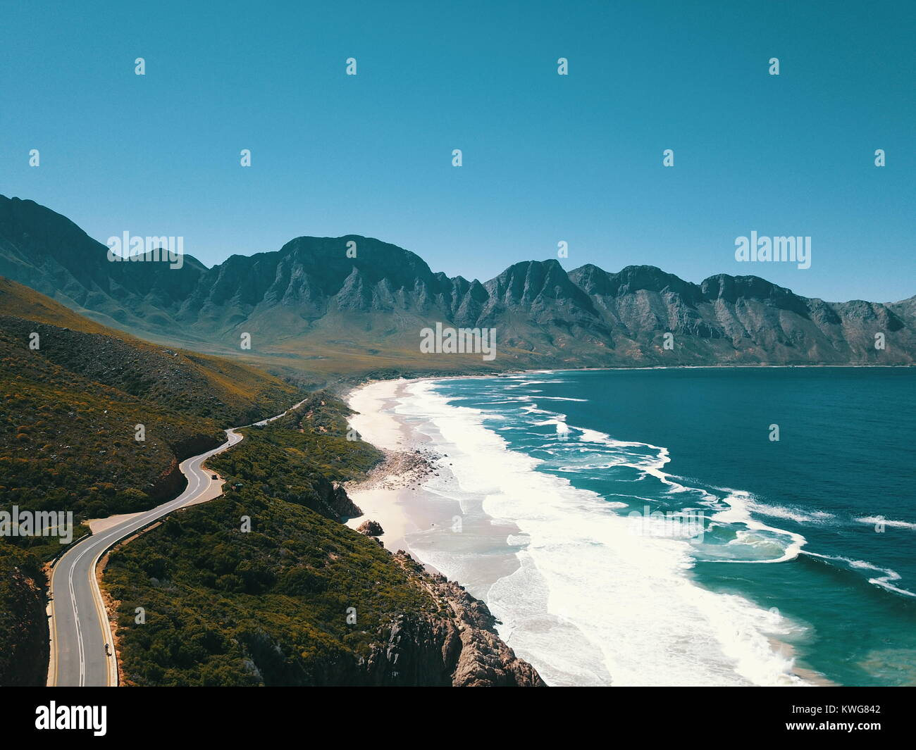 cape town drone footage - Stock Image