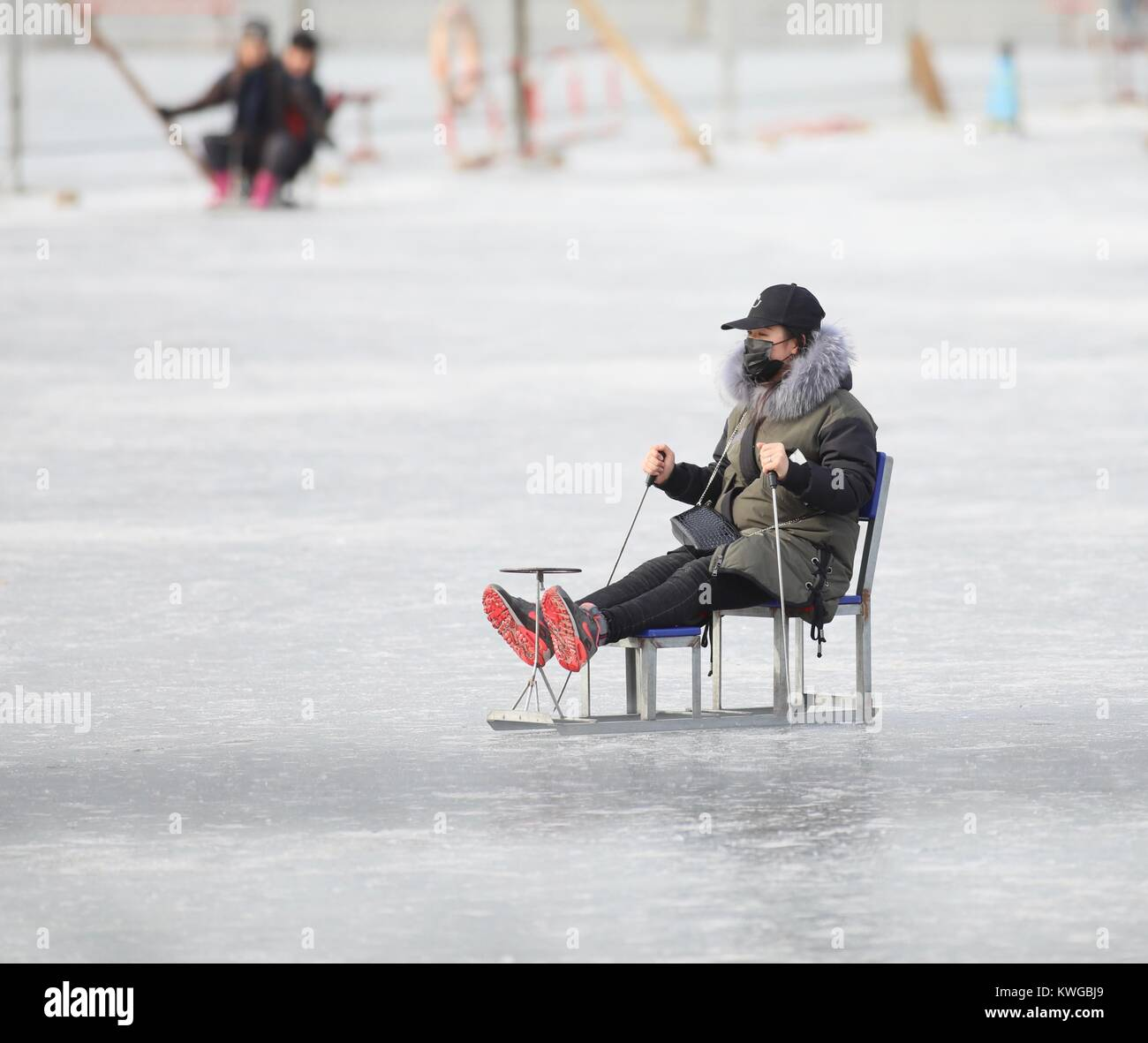 Beijing, Beijing, China. 1st Jan, 2018. Beijing, CHINA-1st January 2018:(EDITORIAL USE ONLY. CHINA OUT) .People - Stock Image