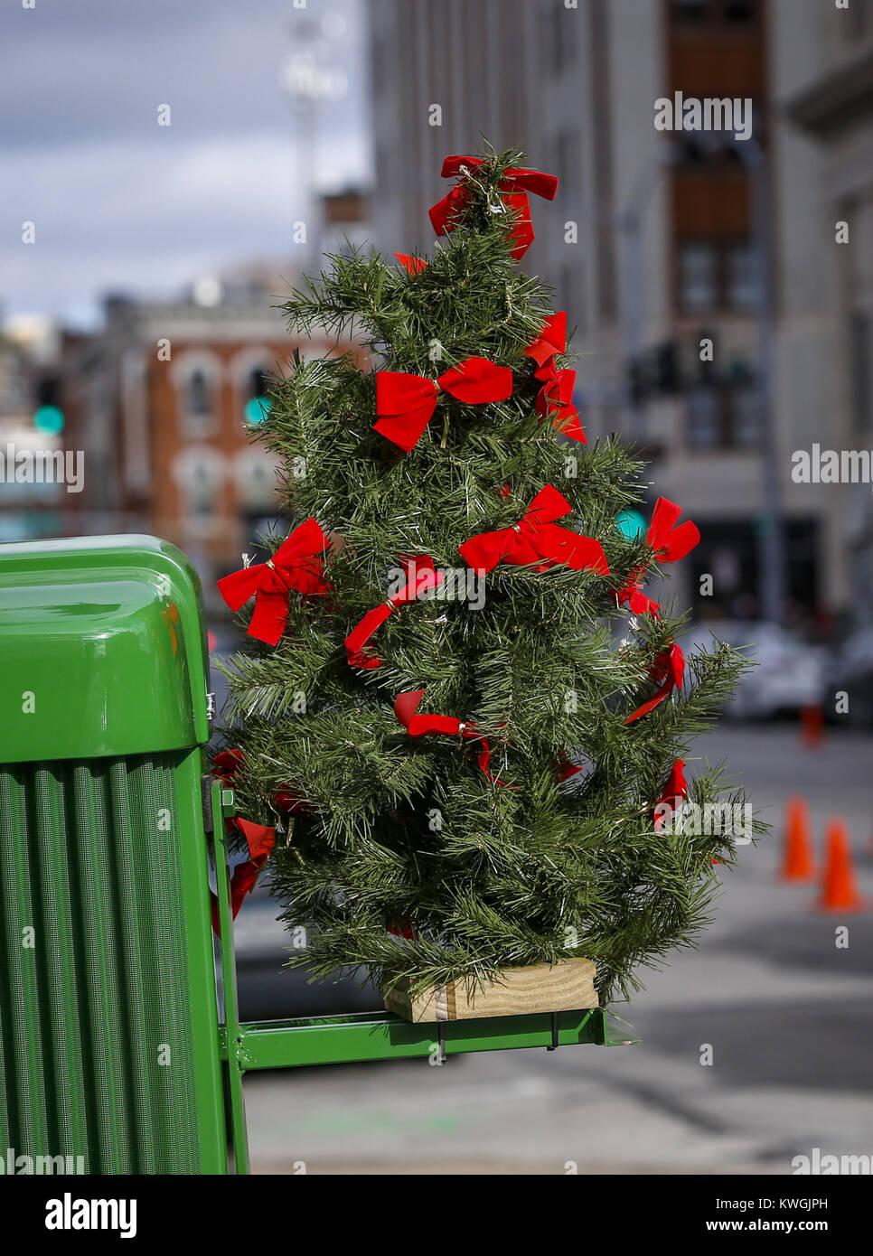 Christmas Tree Trees Tractor Stock Photos & Christmas Tree Trees ...