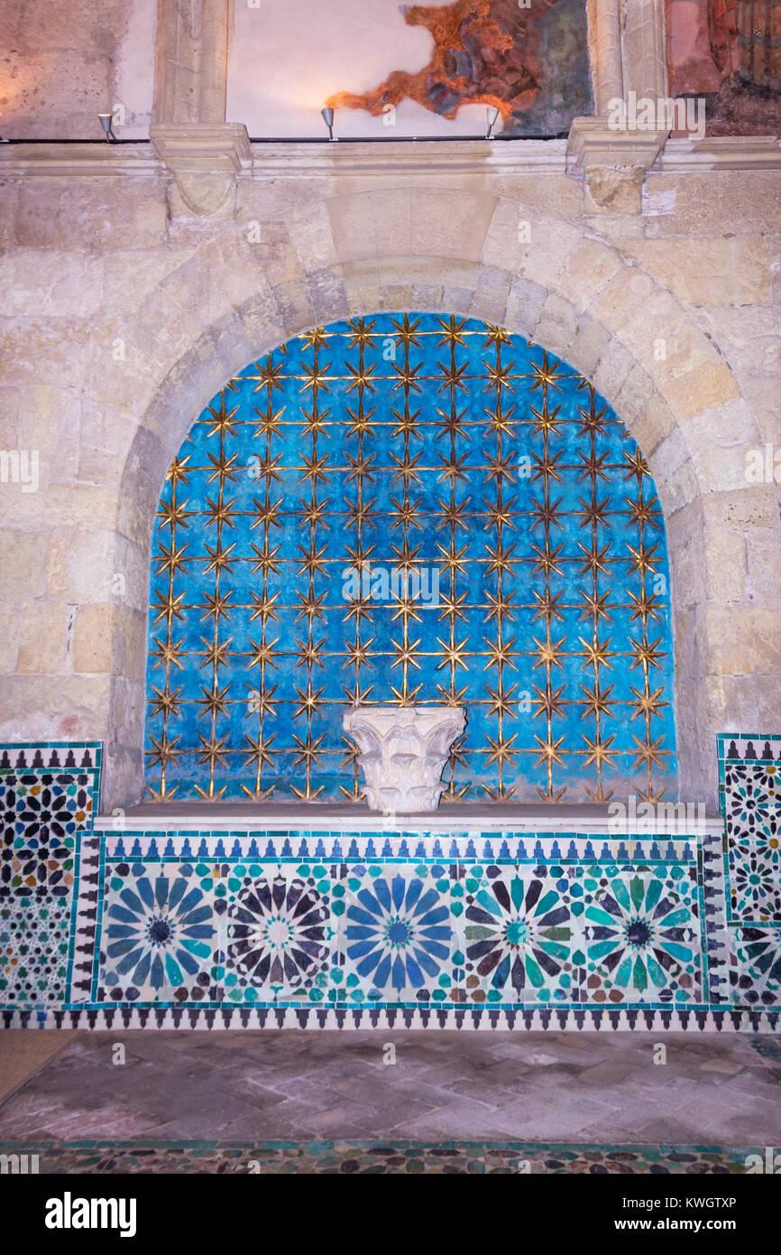 Cordoba, Spain.  The Mudéjar Chapel of San Bartolomé, a 15th-century funerary chapel. - Stock Image