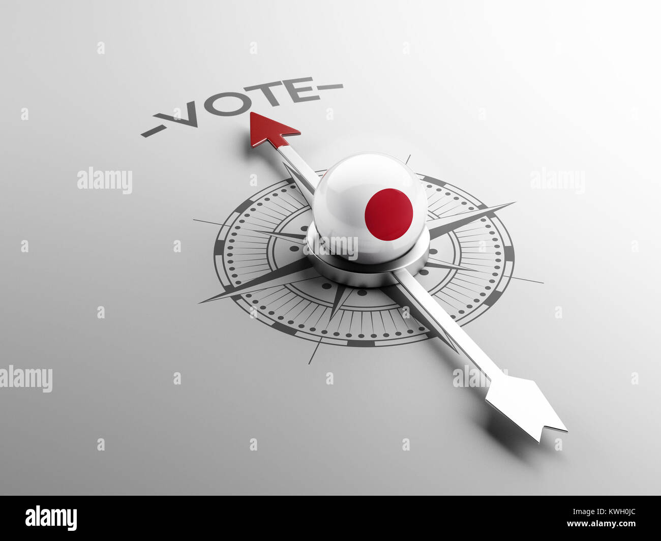 Japan High Resolution Vote Concept Stock Photo