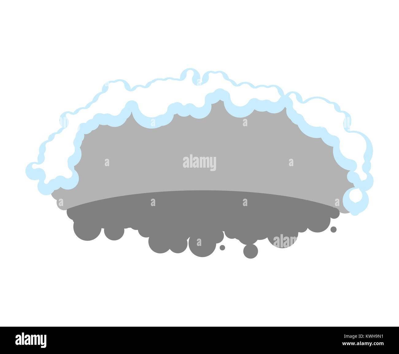 Bear den empty isolated. Grizzly burrow. Vector illustration - Stock Image