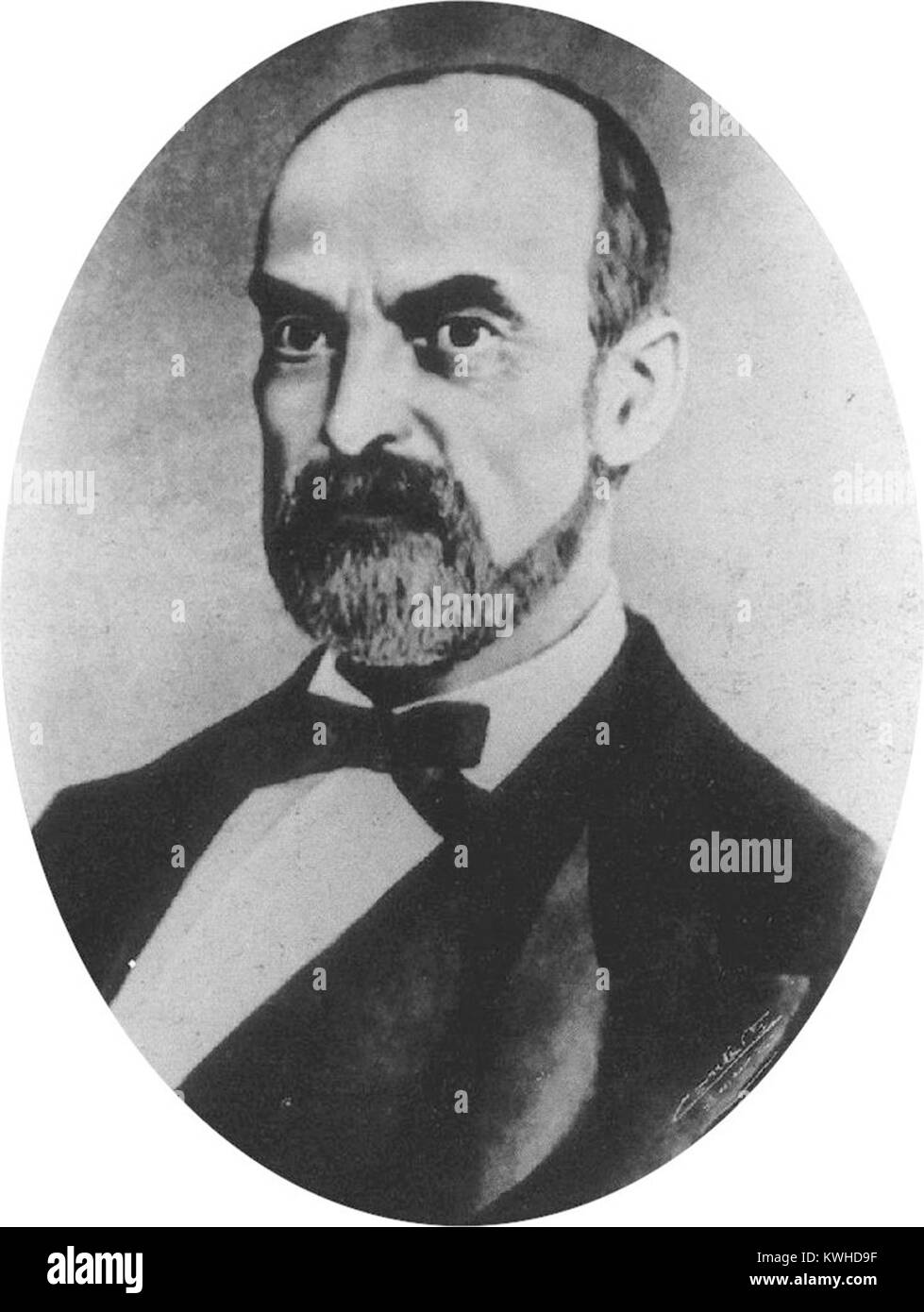 Domenico Giovanni Giuseppe Maria Lanza, Italian politician and the eighth Prime Minister from 1869 to 1873. - Stock Image