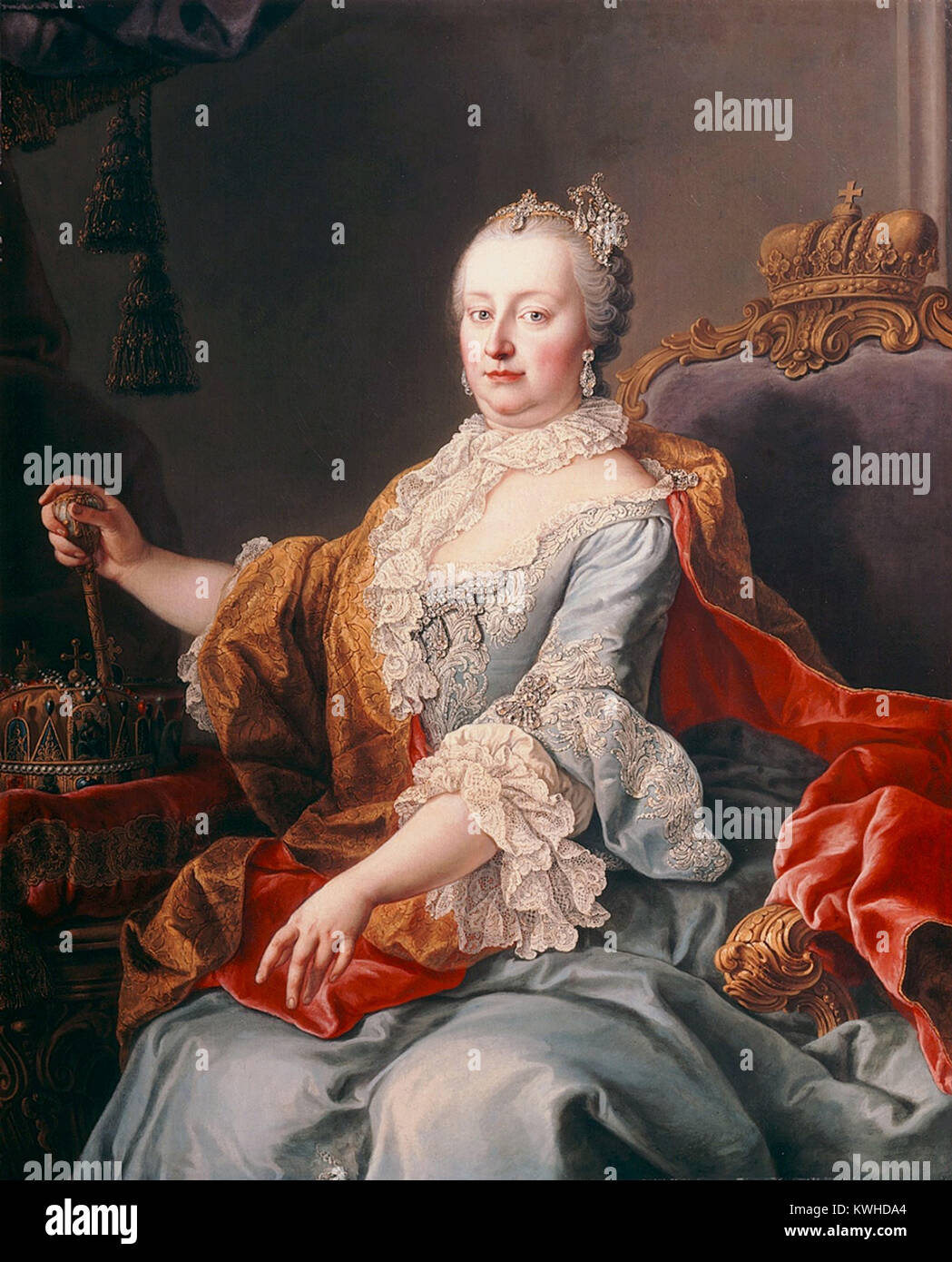 Maria Theresa, Walburga Amalia Christina, the only female ruler of the Habsburg dominions and the last of the House - Stock Image