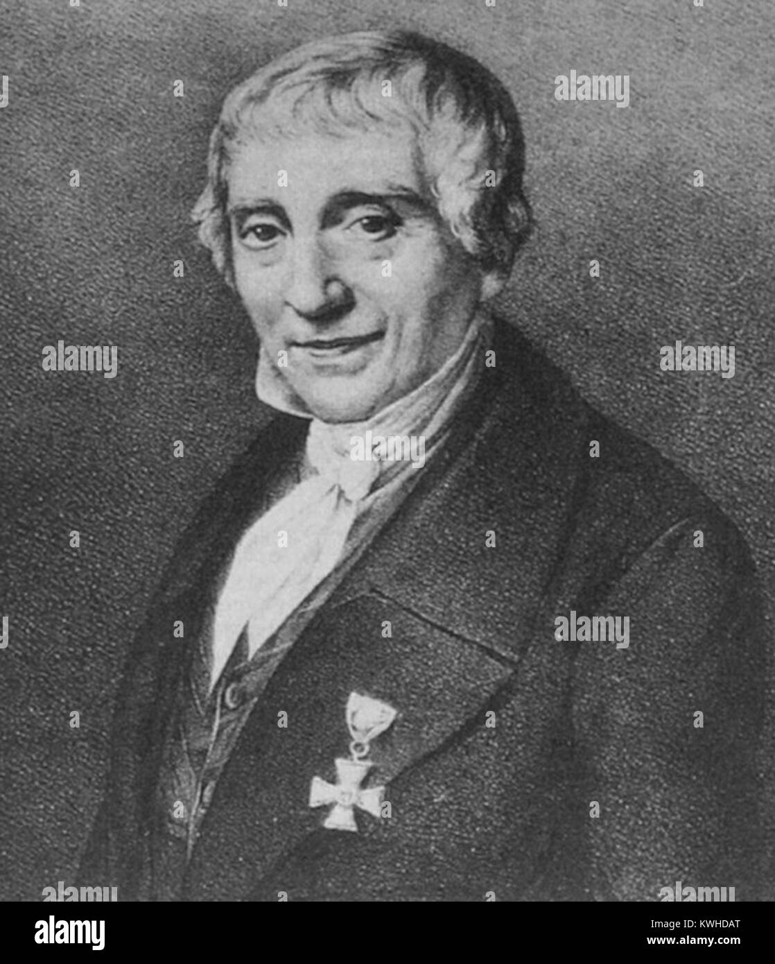 Georg Friedrich Grotefend, German epigraphist and philologist. - Stock Image