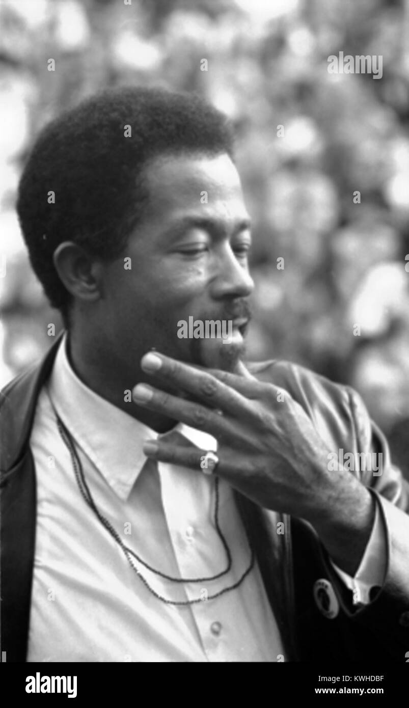 Eldridge Cleaver, American civil rights leader and Black Panther Party member - Stock Image