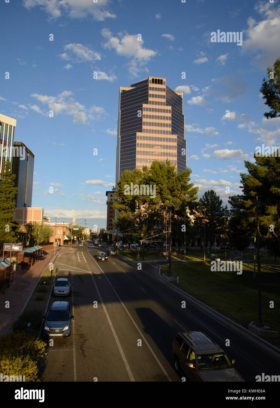 Congress Street, downtown Tucson, Arizona, USA. - Stock Image