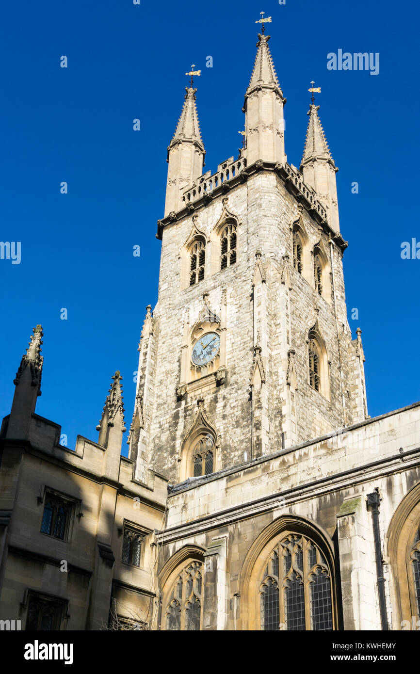 St. Sepulchre-Without-Newgate church at Holborn in the City of London. - Stock Image