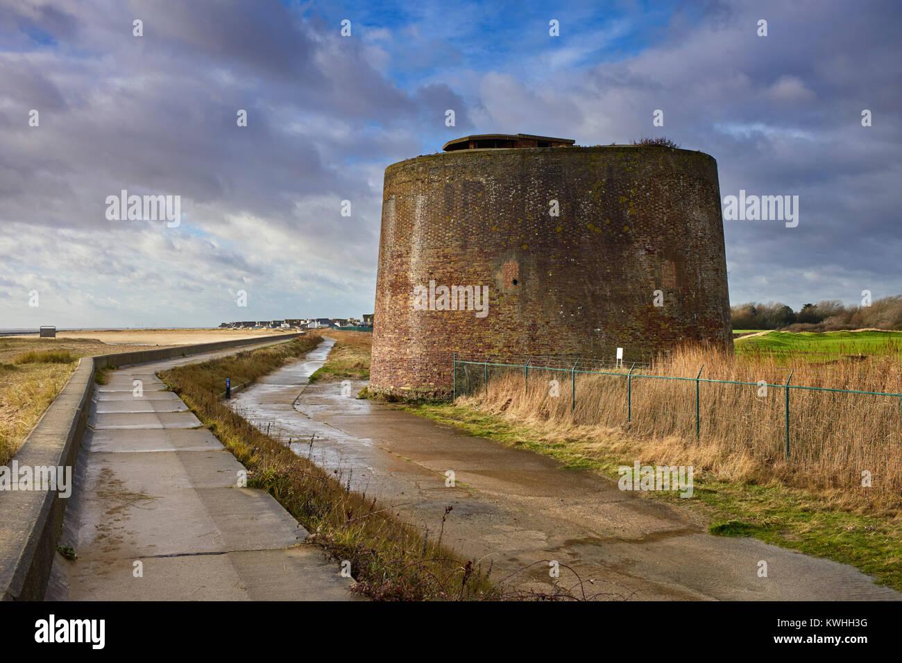 Martello tower in Clacton, Essex - Stock Image