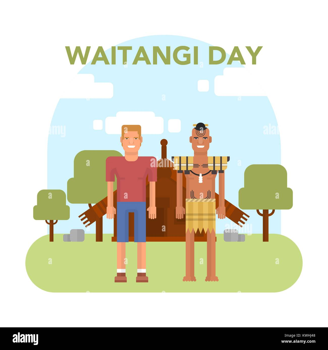 Maori Greeting Stock Vector Images Alamy