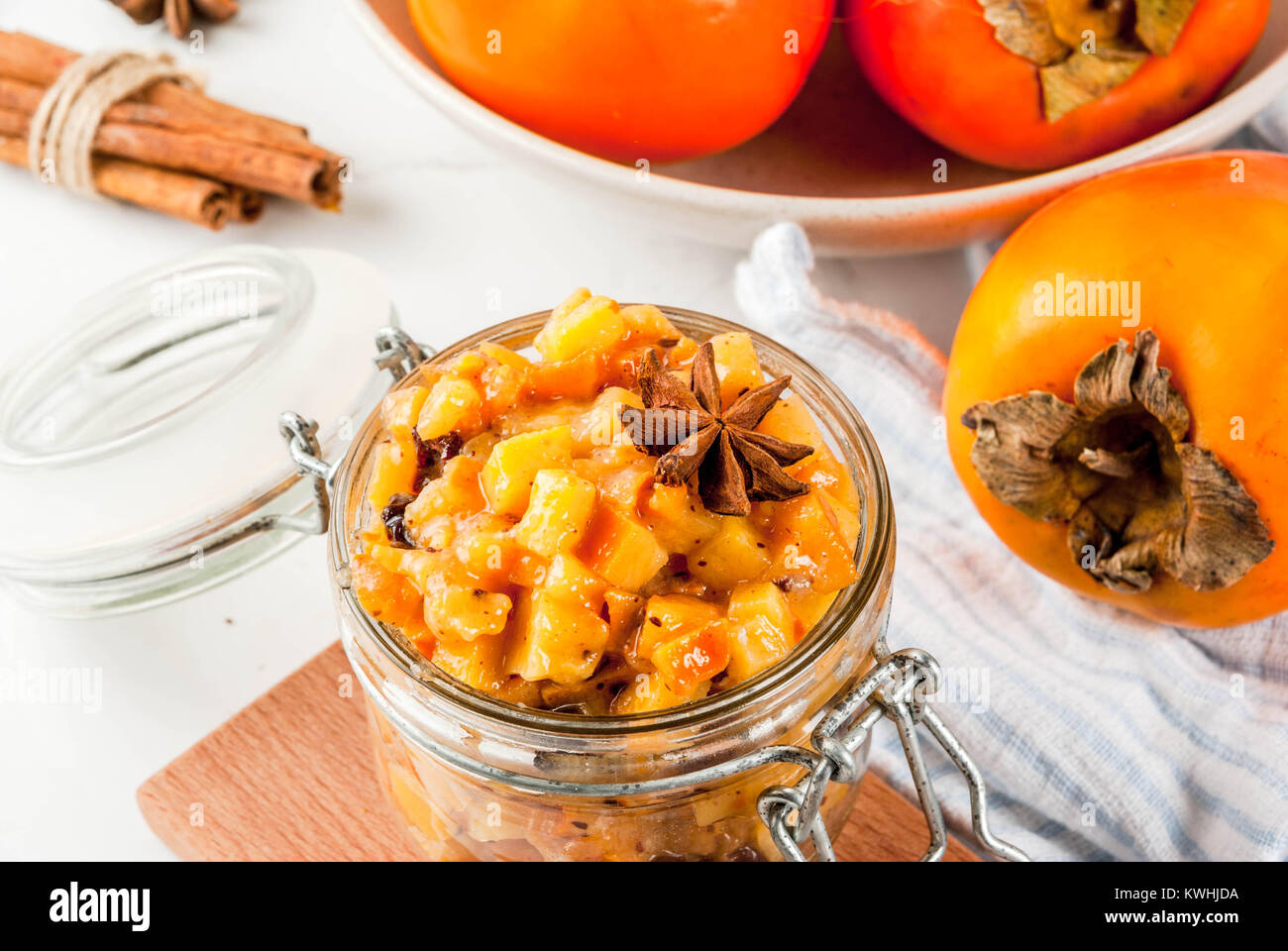 Traditional Indian Food Recipes Persimmon Fruit Chutney