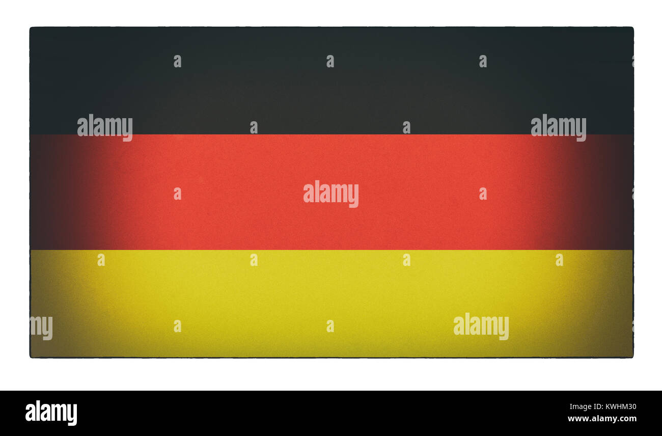 An old distressed German flag - Stock Image