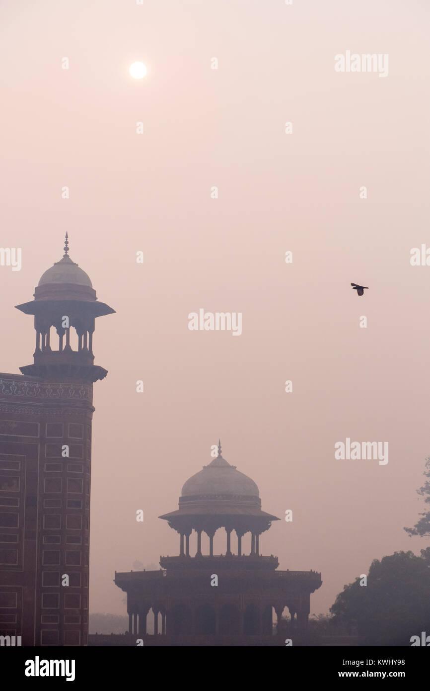 Cupolas at the Taj Mahal, India - Stock Image