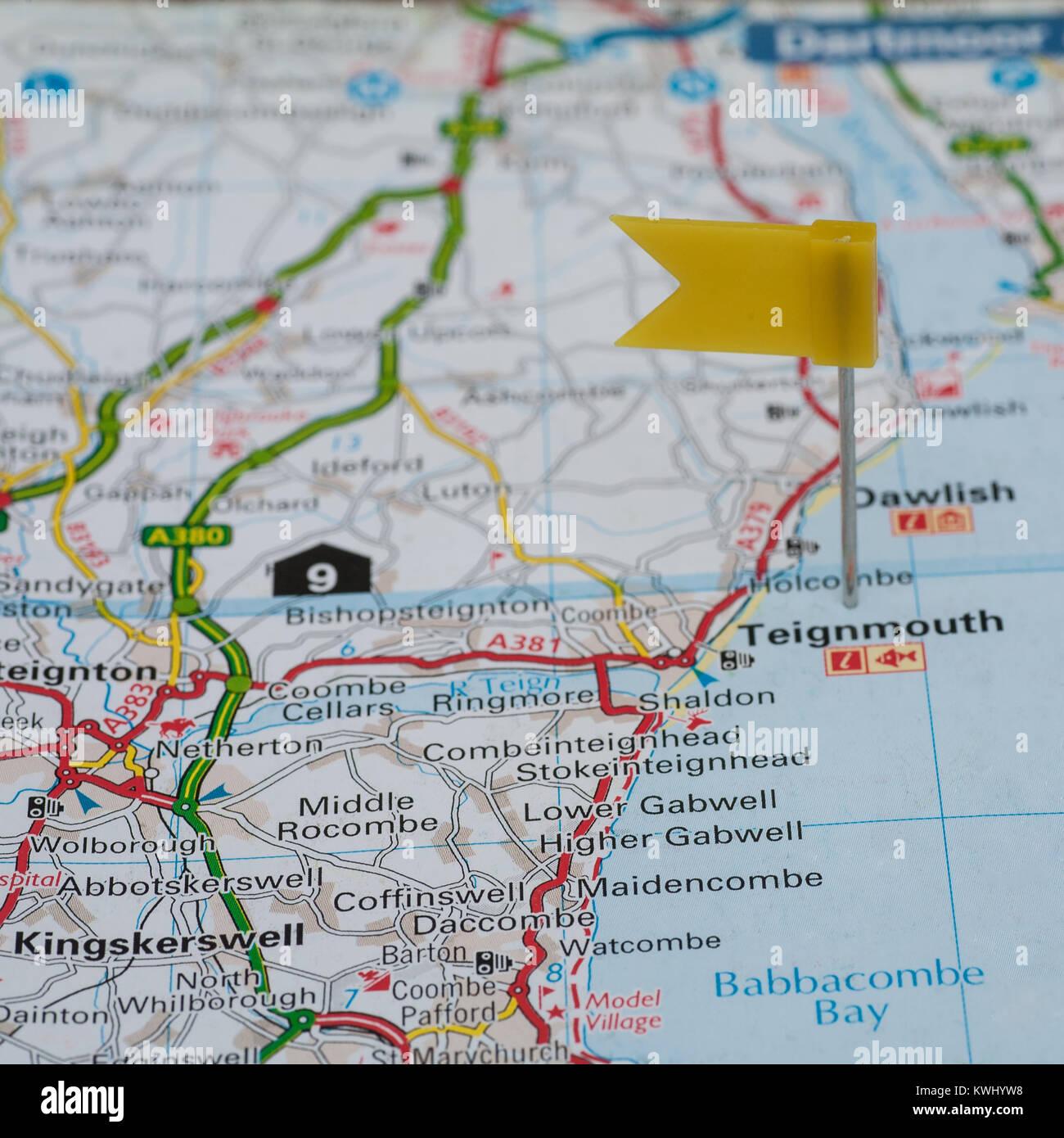 Devon Map - Stock Image
