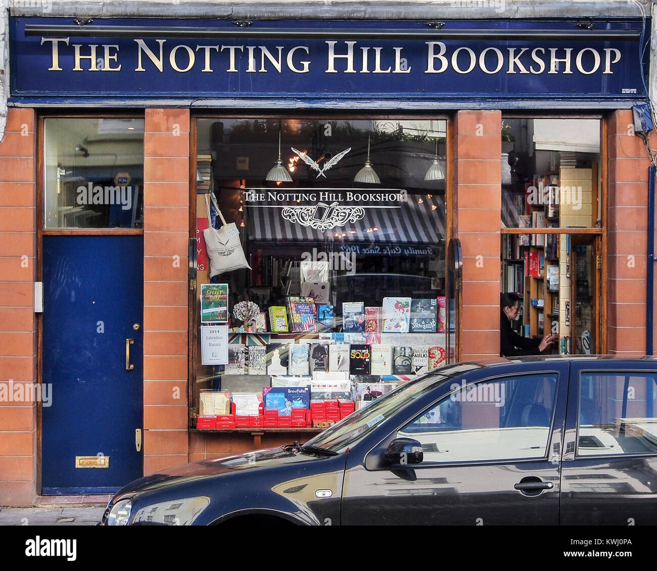 The Notting Hill Bookshop, inspiration for the bookshop in the film Notting Hill - Stock Image