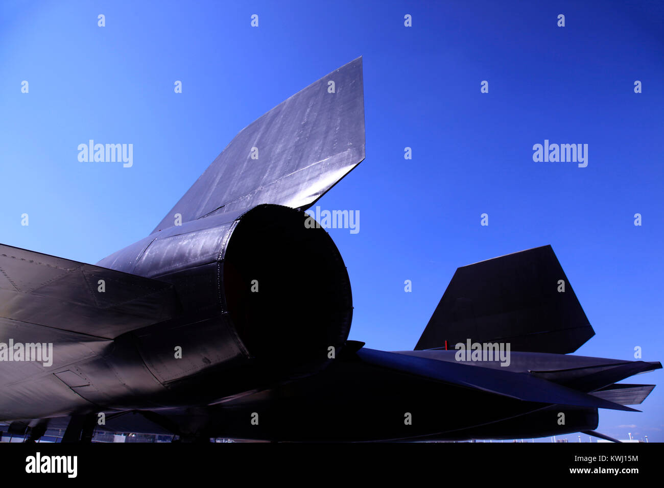A fighter jet plane, blackbird in NYC - Stock Image