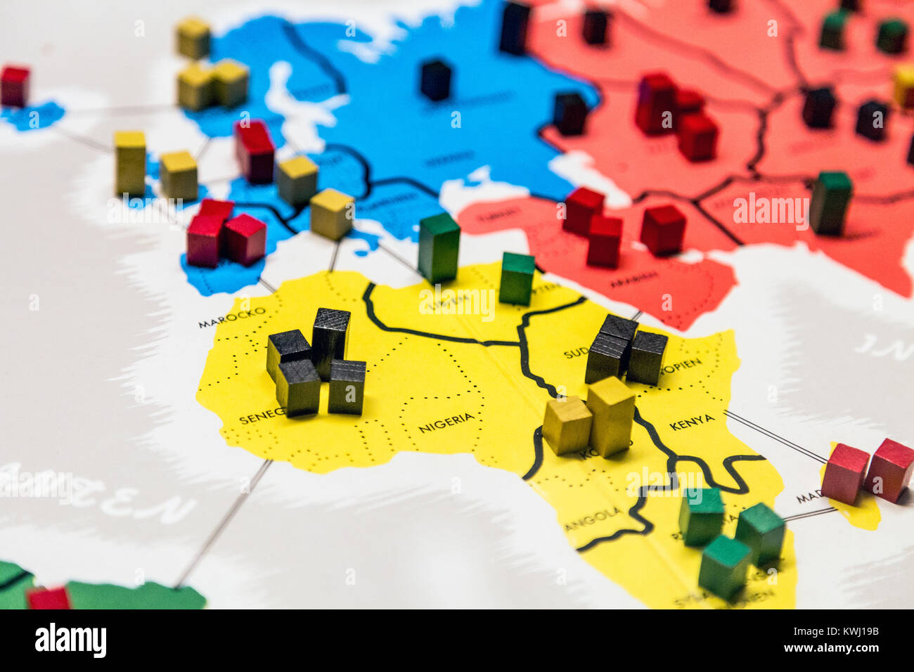 Risk game map stock photos risk game map stock images alamy risk conquest and diplomacy boardgame board close up stock image gumiabroncs Image collections