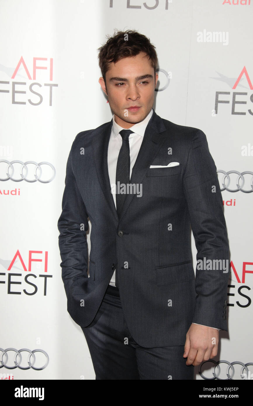 HOLLYWOOD, CA - NOVEMBER 03:   Ed Westwick attends AFI Fest 2011 Opening Night Gala World Premiere Of 'J. Edgar'at - Stock Image